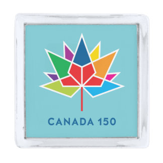 Canada 150 Official Logo - Multicolor and Blue Silver Finish Lapel Pin