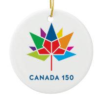 Canada 150 Official Logo - Multicolor Ceramic Ornament