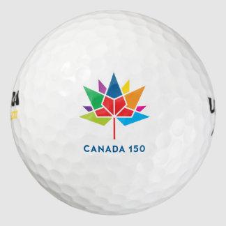 Canada 150 Official Logo - Multicolor Golf Balls