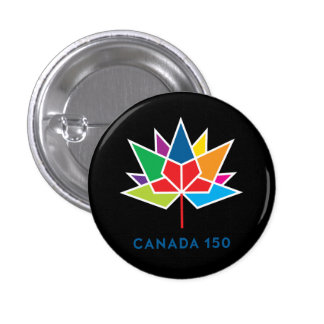 Canada 150 Official Logo - Multicolor Pinback Button