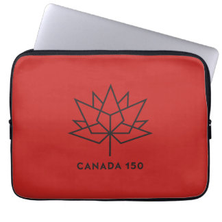 Canada 150 Official Logo - Red and Black Computer Sleeve