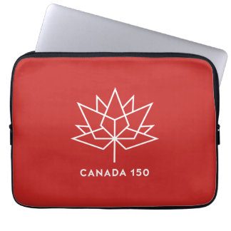 Canada 150 Official Logo - Red and White Computer Sleeve