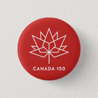 Canada 150 Official Logo - Red and White Pinback Button
