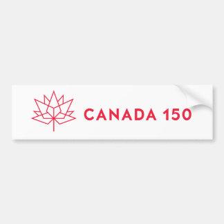 Canada 150 Official Logo - Red Outline Bumper Sticker