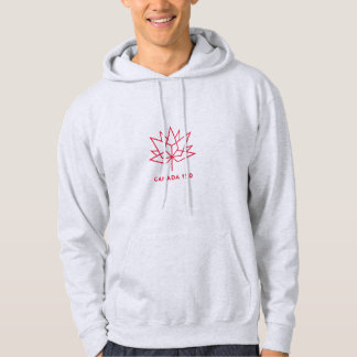 Canada 150 Official Logo - Red Outline Hoodie