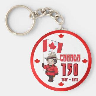 Canada 150 Years Anniversary Keychain