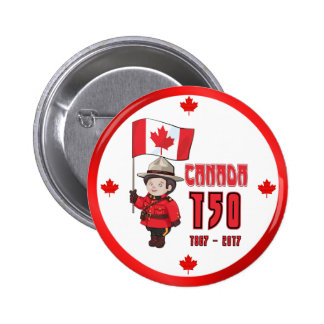 Canada 150 Years Anniversary Pinback Button