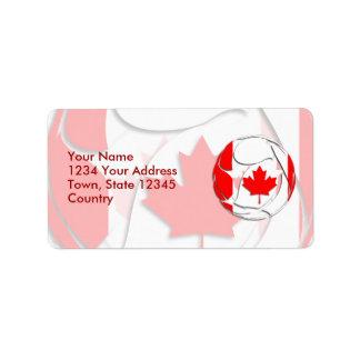 Canadá #1 etiquetas de dirección