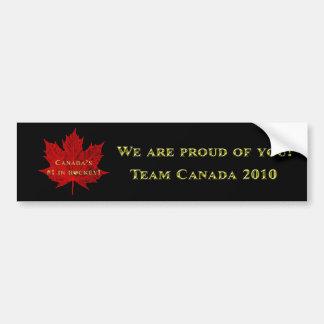 Canada #1 in Hockey 2010 Car Bumper Sticker