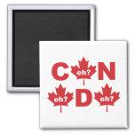Canada 2 Inch Square Magnet
