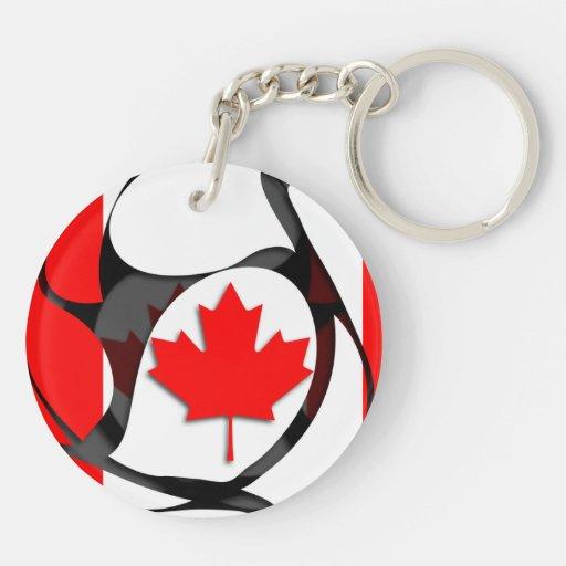 Canadá #2 llavero redondo acrílico a doble cara