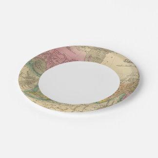 Canadá 2 plato de papel de 7 pulgadas