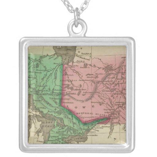 Canada 3 square pendant necklace
