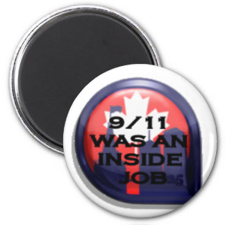 Canada 911 Truth Inside Job 2 Inch Round Magnet