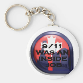 Canada 911 Truth Inside Job Basic Round Button Keychain