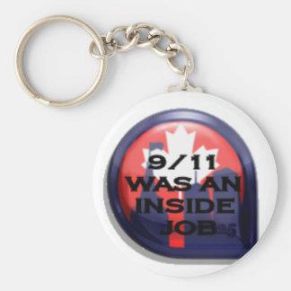Canada 911 Truth Inside Job Keychains