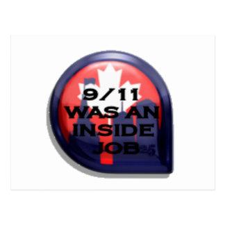 Canada 911 Truth Inside Job Post Card