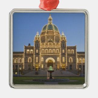 Canadá, A.C., Victoria, A.C. edificio de la Adorno Cuadrado Plateado