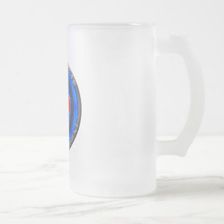 Canada Above the Fray Rondel Frosted Glass Beer Mug