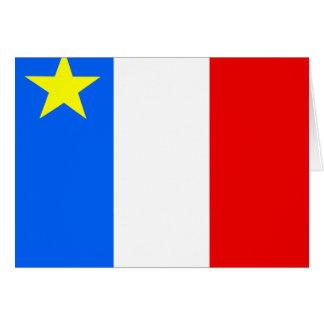 Canada Acadia High quality Flag Greeting Card