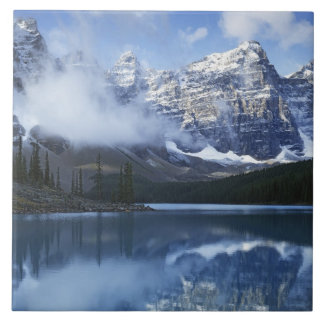 Canada, Alberta, Banff National Park, Lake Large Square Tile