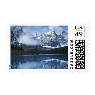 Canada, Alberta, Banff National Park, Lake Postage Stamp