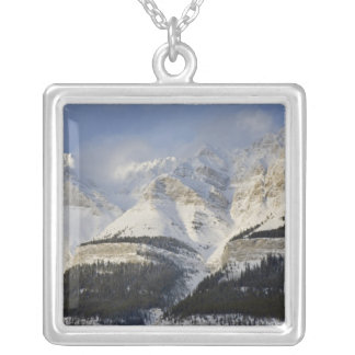 Canada, Alberta, Banff National Park. View of Square Pendant Necklace