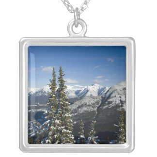 Canada, Alberta, Banff. Views of the Bow Valley Silver Plated Necklace