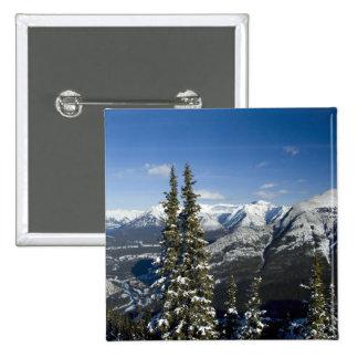 Canadá, Alberta, Banff. Vistas del valle del arco Pin Cuadrada 5 Cm