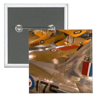 Canada, Alberta, Calgary: Aero Space Museum of 2 Inch Square Button
