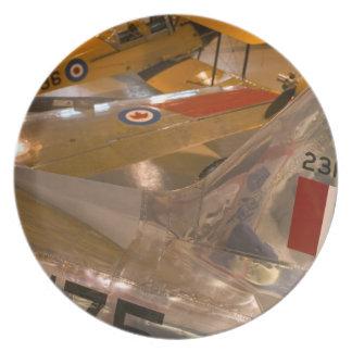 Canada, Alberta, Calgary: Aero Space Museum of Melamine Plate