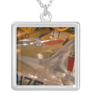 Canada, Alberta, Calgary: Aero Space Museum of Silver Plated Necklace