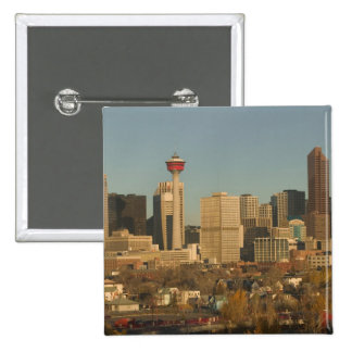 Canada, Alberta, Calgary: City Skyline from 2 2 Inch Square Button