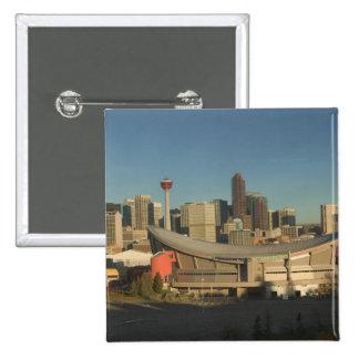 Canada, Alberta, Calgary: City Skyline from 3 2 Inch Square Button