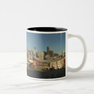 Canada, Alberta, Calgary: City Skyline from 3 Two-Tone Coffee Mug