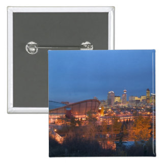 Canada, Alberta, Calgary: City Skyline from 4 2 Inch Square Button