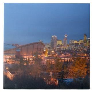 Canada, Alberta, Calgary: City Skyline from 4 Tile