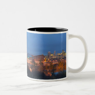 Canada, Alberta, Calgary: City Skyline from 4 Two-Tone Coffee Mug