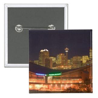 Canada, Alberta, Calgary: City Skyline from 2 Inch Square Button