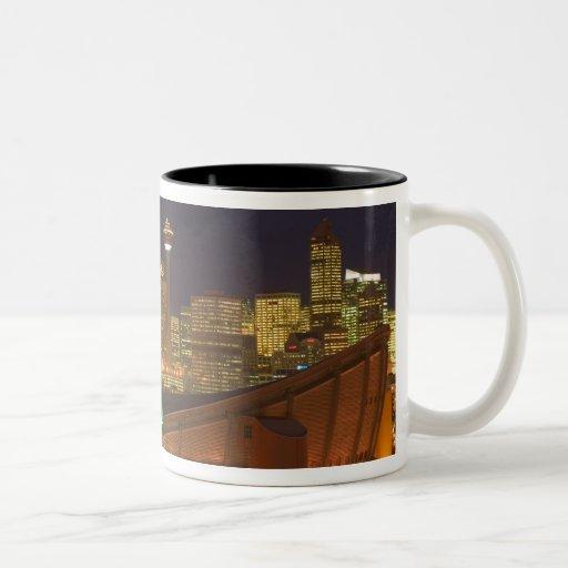 Canada, Alberta, Calgary: City Skyline from Coffee Mug