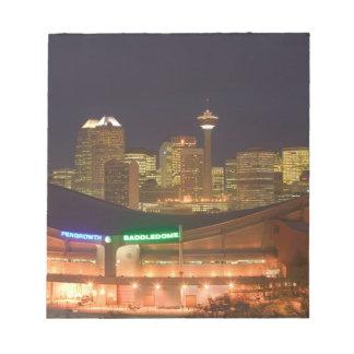 Canada, Alberta, Calgary: City Skyline from Notepad