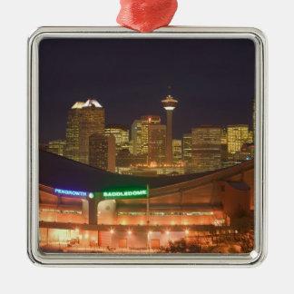 Canada, Alberta, Calgary: City Skyline from Christmas Ornaments
