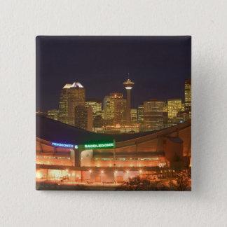 Canada, Alberta, Calgary: City Skyline from Pinback Button