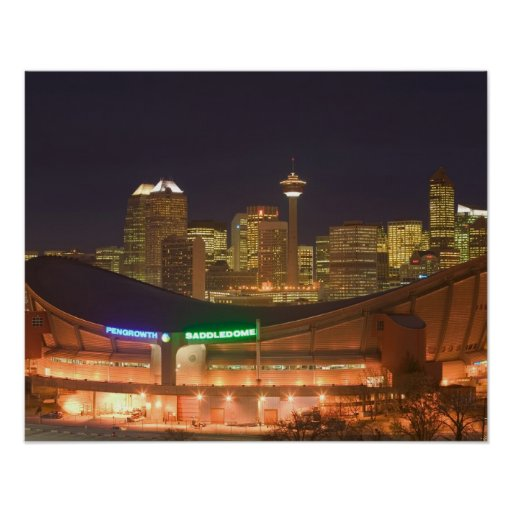 Canada, Alberta, Calgary: City Skyline from Poster