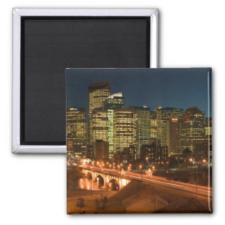 Canada, Alberta, Calgary: Downtown Calgary, 2 Inch Square Magnet