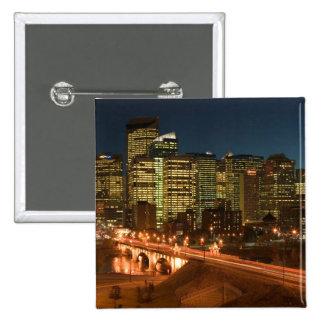 Canada, Alberta, Calgary: Downtown Calgary, 2 Inch Square Button