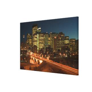 Canada, Alberta, Calgary: Downtown Calgary, Gallery Wrap Canvas