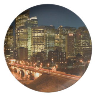 Canada, Alberta, Calgary: Downtown Calgary, Melamine Plate