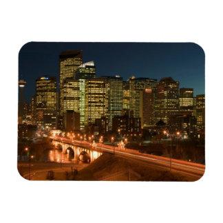 Canada, Alberta, Calgary: Downtown Calgary, Rectangular Photo Magnet