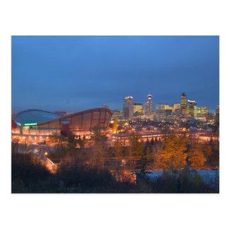 Canadá, Alberta, Calgary: Horizonte de la ciudad a Tarjetas Postales